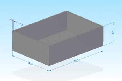 G705020B 70.5x50.5x20mm